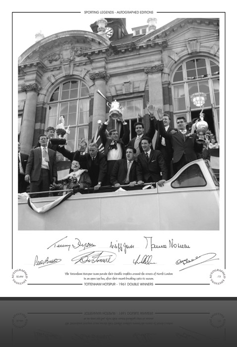 Tottenham Hotspur 1961 The Double on Bus Poster
